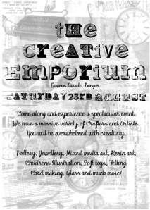 "flyer for ""the gangs' creative emporium"