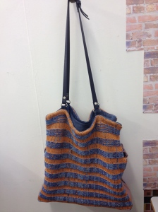 second year/first semester knitted bag