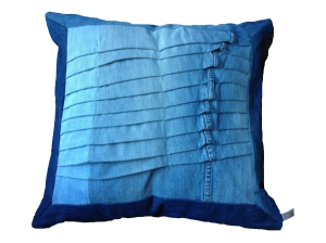 latest recycled denim pillow